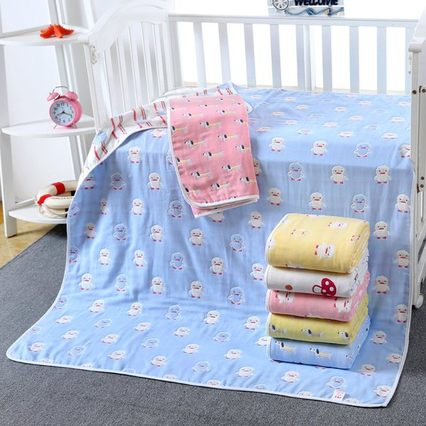 2018 New Baby Towel lovely Cartoon Quilt Towel Baby Pure Cotton Six layers of Gauze Soft Water Absorption Children Quilt
