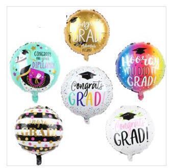 "18"" Congrats Grad Balloons Graduation Foil Balloons Graduation Gift Globos Back To School Decorations Birthday Party Supplies 50pcs"