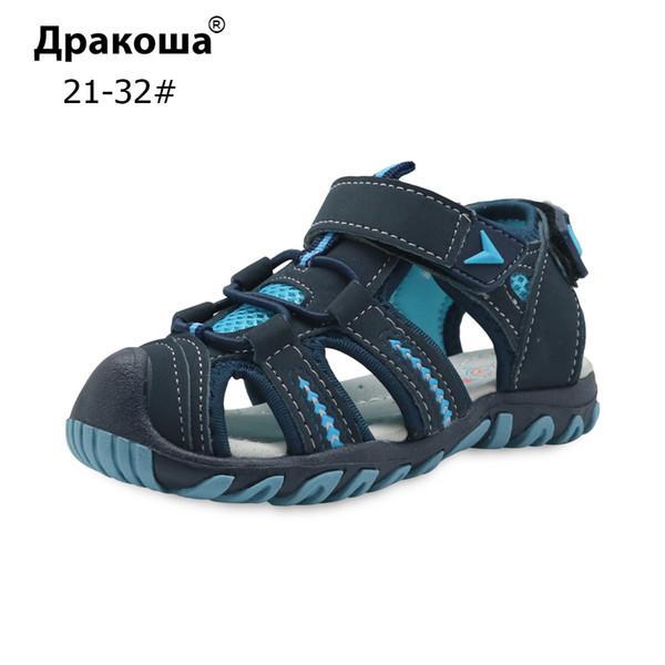 Apakowa Brand New Sommer Kinder Strand Jungen Sandalen Kinder Schuhe Closed Toe Arch Support Sport Sandalen für Jungen Eu Größe 21-32