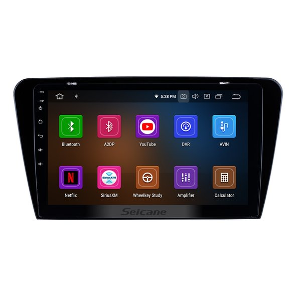 10.1 inch HD Touchscreen Android 9.0 Car GPS Navigation System for 2015 2016 2017 SKODA Octavia UV with WIFI Bluetooth support car dvd OBD2