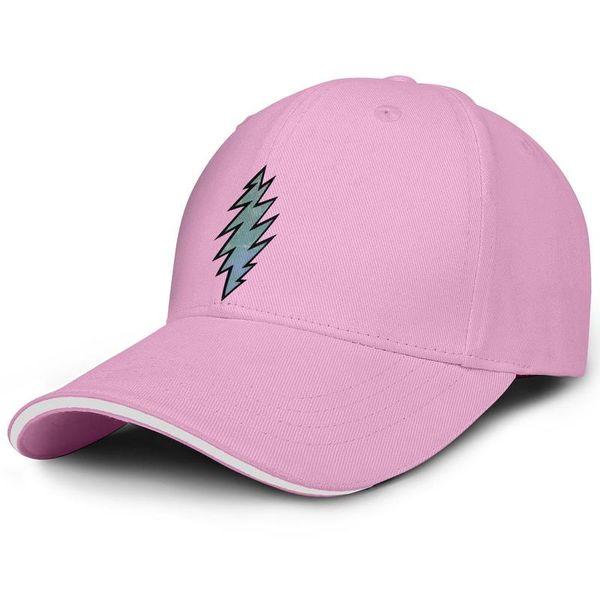 Grateful Dead логотип молнии на заказ для мужчин и женщин Snapback Регулируемые шляпы дальнобойщик Популярные Sun Flat hat Открытый розовый