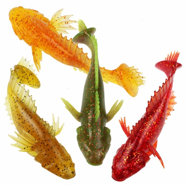 4 Colors Silicone Artificial Soft Lures Thorn Body T Tail Worms Fishing Baits Lifelike Flying Bait Fishing Tackle 12cm 20g