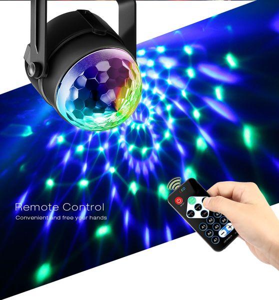 Lumière de vacances 3 modes de contrôle RVB LED effet de soirée Disco Ball Light Stage éclairage de la lampe de mariage de Noël professionnel