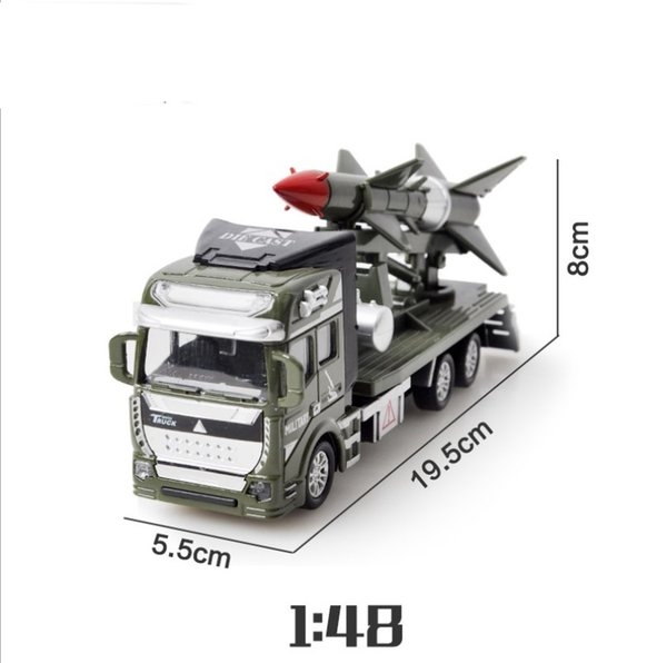 BOY toys Metal Alloy Toy Pull Back Model Military missile vehicle Car multi choices Birthday Gift toy Rocket car cool
