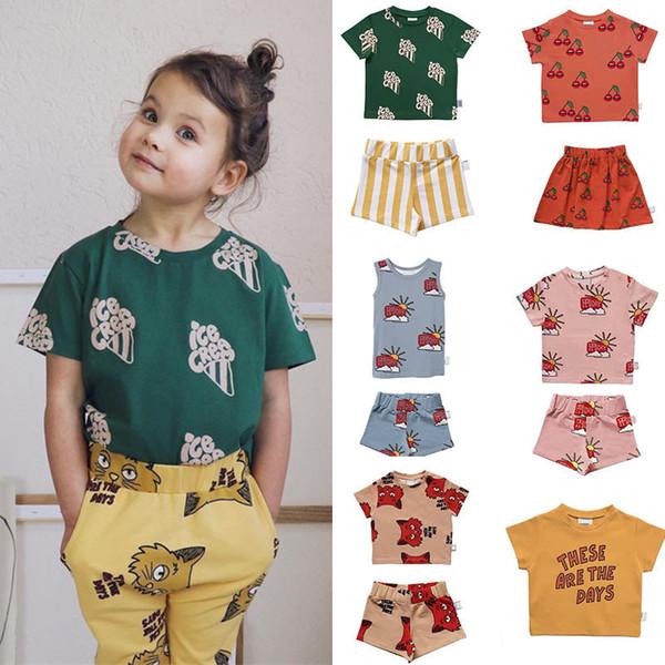 Enkelibb Baby Boys Toddler Girls For Summer Cherry Pattern T Shirt Kids Children Tiny Cottons Fashion Tops Tshirt J190529