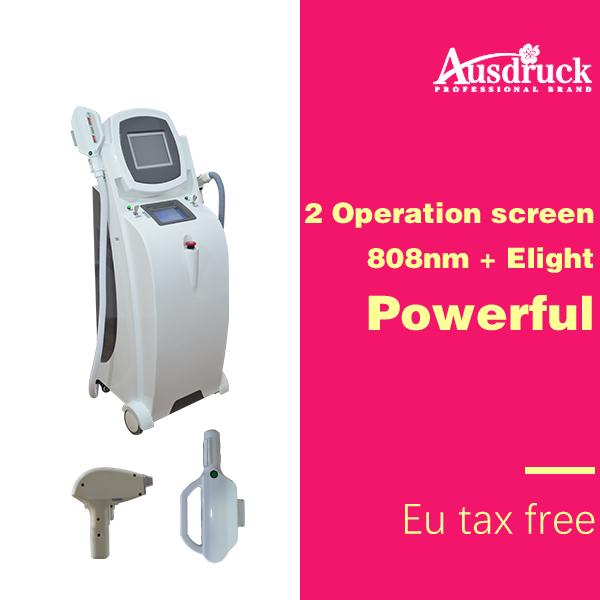 eu tax new arrival 2in1 multifunction 808nm diode laser hair removal elight skin rejuvebation machine