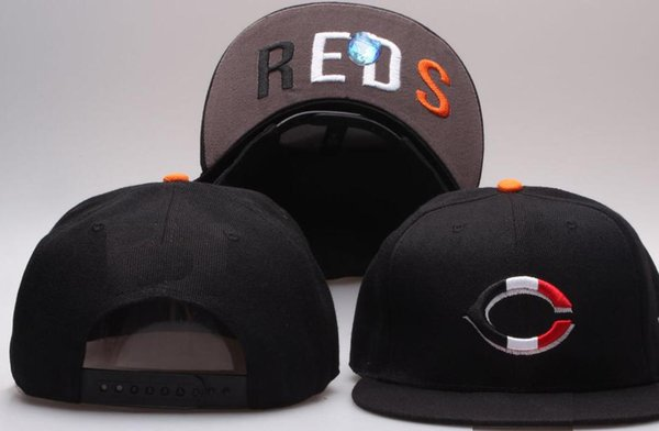 Hot Selling On Field Reds hat Top Quality flat Curved Brim strapback embroiered Letter C Team fans baseball Hats Snapback Chapeu