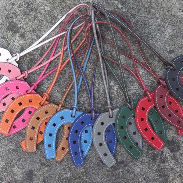 Marca de moda PU Couro Casco Do Cavalo Ferradura Chaveiro Bolsa Titular Anel Chave Da Cadeia Charme Saco de Mulheres Acessórios dropshipping