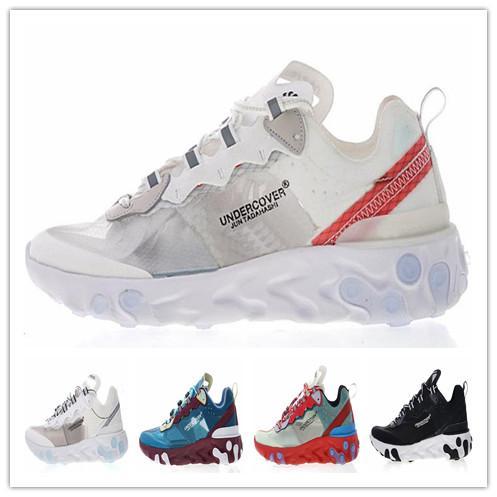 react element 87 undercover mens running shoes Women Designer Shoes sneakers Trainers Black Sail Light Bone Hiking Jogging Men Sport Shoes