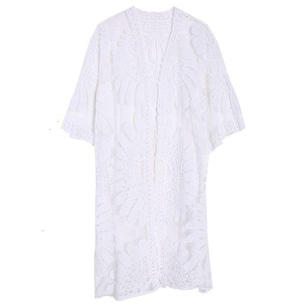 Белый купальный костюм