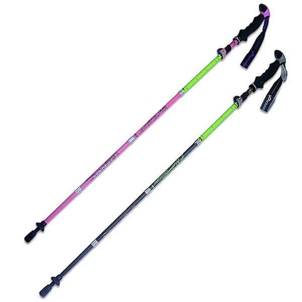 Portable Lightweight Carbon Folding Cane Outdoor Mountaineering Hiking Skiing Trail Running Stick Pole 3 Size