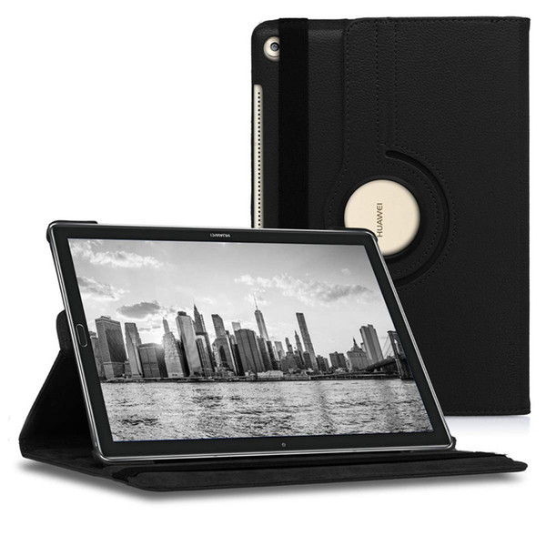 360 degree rotating leather tand ca e for huawei mediapad m5 lite 10 t5 t3 7 8 10 inch tablet pc cover ca e