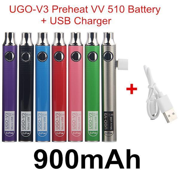 Autêntico UGO V3 Pré-aquecimento VV 900mAh + USB