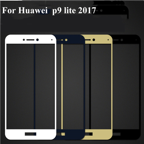 1PC Full Cover Protective Tempered Glass For Huawei p9 lite 2017 p 9 lite 2017 3D Screen Protector Protection on Film
