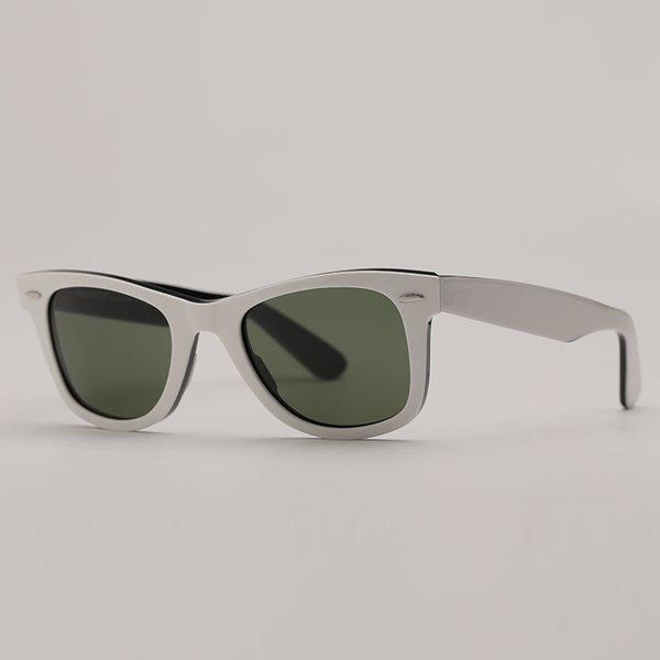 white black-deep green lenses