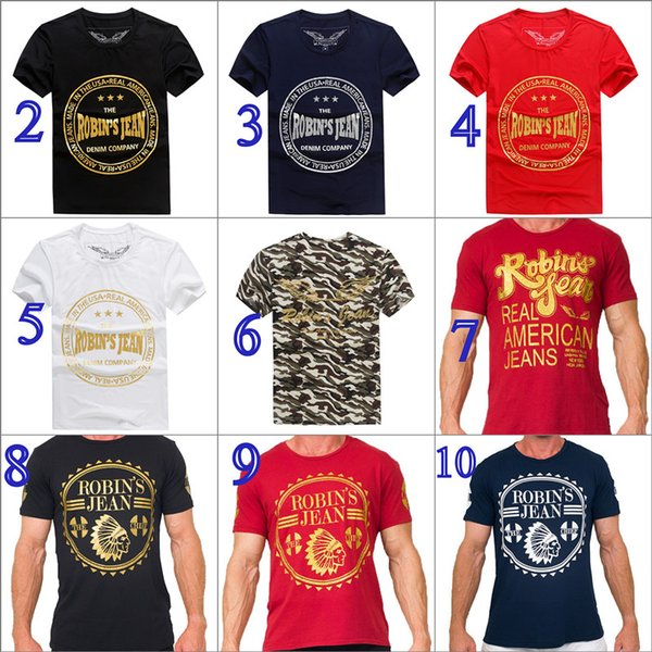 10 colori New Robin T-shirt Uomo Robin Jeans Camicie Mens Designer T Shirt Robins Bottoming Robins Shirt Top Plus Size M- 3XL
