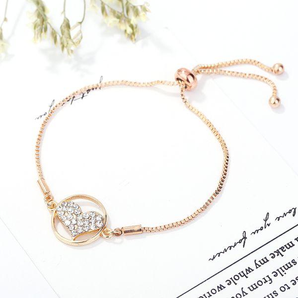Heat Sell Gold-plated Zircon Adjust Peach Bracelet Girl Student Nepal Ornaments cross Girls charm bracelets for women charms