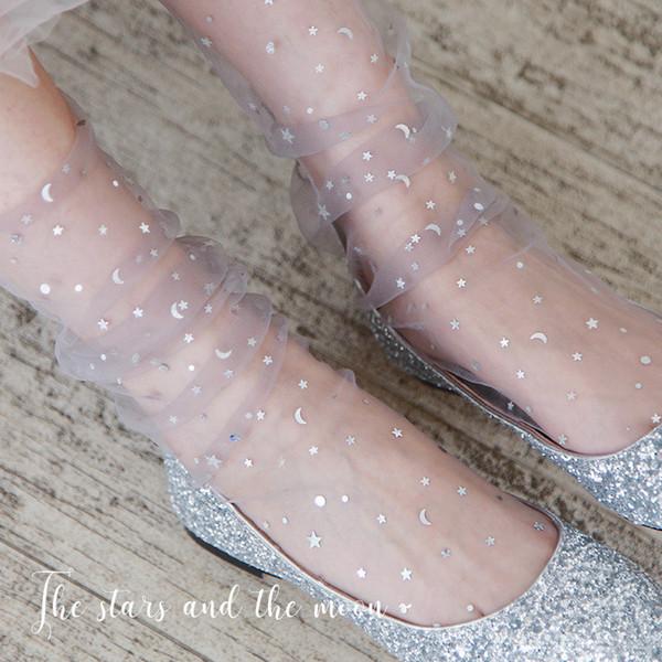 Звезды и Луна шаблон сетки женщин носки мода 5 пар / лот 2019 новое прибытие