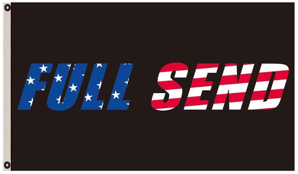 2019 Full Send US Banner Nelk Nelkboys For The Boys College Dorm Party Hang  Sign Black From Kc_flag, $4 23   DHgate Com