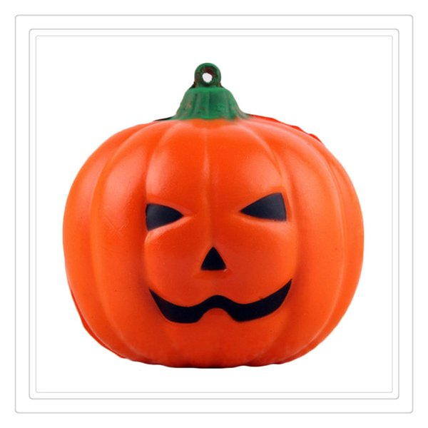 Lovely Squishy Halloween Pumpkin Toy Squishies Slow Rising For Children Relieves Stress Anxiety Cabinet Decoration Christmas Gift