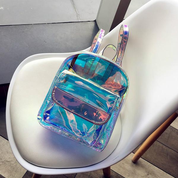 Latte Orso 2019 di marca del progettista zaino nuove donne Mini borse da viaggio trasparente ragazze Lase scuola Leather Bag PU Bag J19052876b1 #