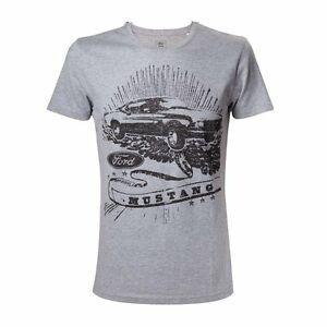 Ford-Grey Melange Mustang BlaCustom Print T-Shirt Unisex Diapers XL
