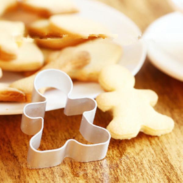 Yüksek kaliteli Noel Çerez Kesici Aletler Alüminyum Alaşım Gingerbread Erkekler Şeklinde Tatil Bisküvi Kalıp Mutfak kek Dekorasyon Aletleri