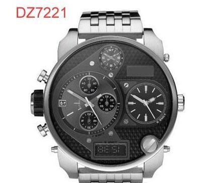 TOP QUALITY BEST PRICE / Herren Luxus Quarzuhren 4 Zeitzonen Analog 50 MM Herrenuhren DZ7125 DZ7127 DZ7193 DZ7194 DZ7221 DZ7234