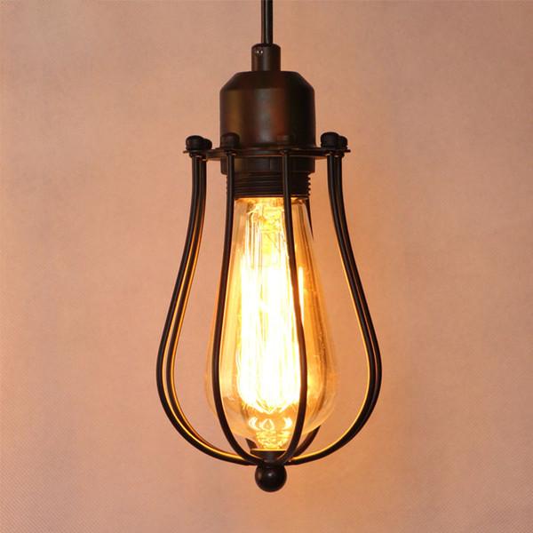 Lámpara de la lámpara antigua lámpara de techo de alambre antiguo colgante colgante ligero fixturew para dormitorio bar sala de estar iluminación del hogar