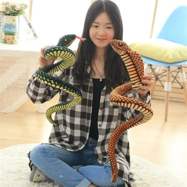 1PC 110CM Snake Plush Doll Simulation Snake Stuffed Animal Toy Funny Party Doll Kid Baby Birthday Gift