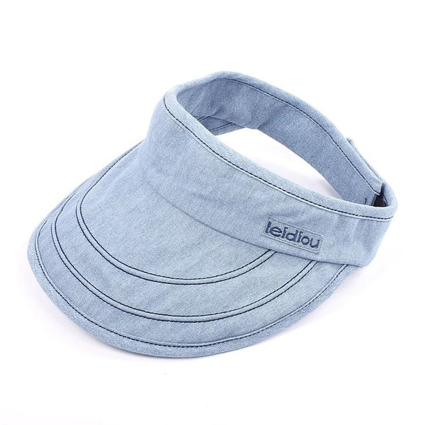 Unisex Folding Sun Visor Hat Causal Adjustable Wide Brim Empty Top Caps Outdoor Fashion Travel Beach Sun Caps TTA607