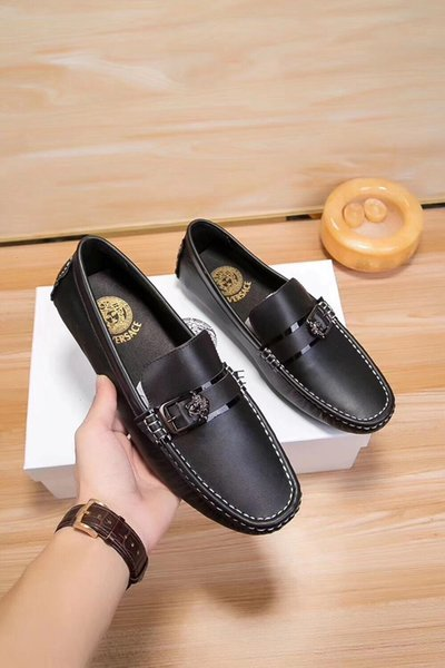 mode Charme 2019 Chaussures Doug doux fond plat cuir demi-soutien Homme