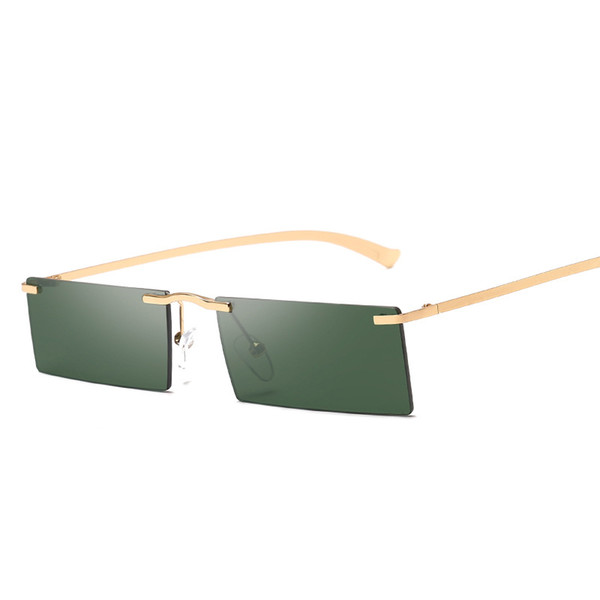 Modern Designer Sunglasses For Men And Women Slim Fashion Eyewear Square Rimless Unisex Glasses Oculos De Sol