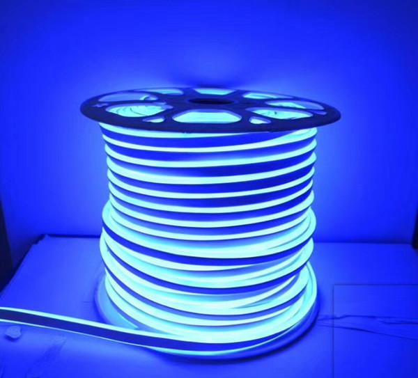 Fanlive 20M 220V 240V Flessibile Fita Led Neon Flex Rope Bar Light SMD 2835 Outdoor Indoor RGB Soft Tube Strip Luci impermeabili