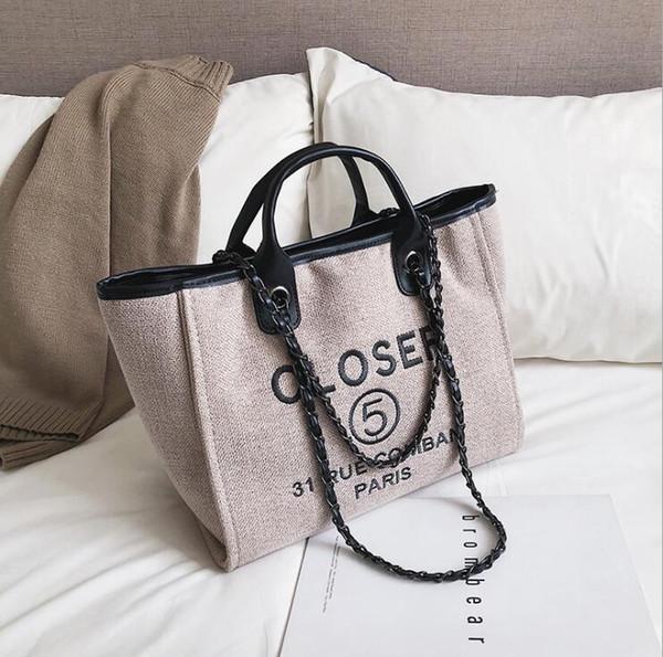Brand Fashion Women Ladies Canvas Shoulder Bag Satchel Tote Purse Messenger Crossbody Bag Embroidery Letters Handbag