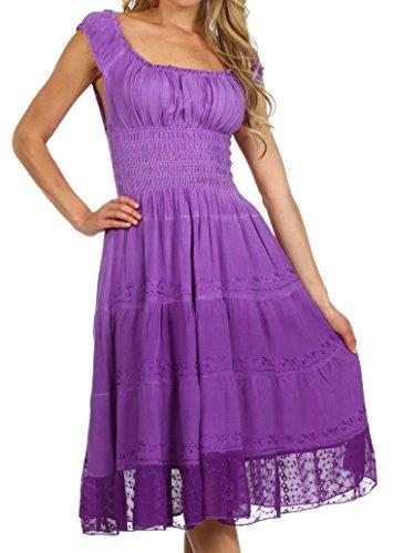 Sakkas Spring Maiden Ombre Peasant Dress