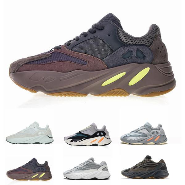 700 Koşucu 2019 Yeni Kanye West Leylak Dalgası Dalga Erkek Kadın Atletik En Kaliteli 700 s Spor Koşu Sneakers Tasarımcı Ayakkabı