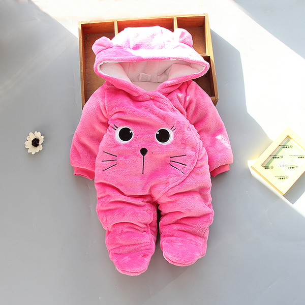 good quality winter rompers newborn baby clothes cotton velvet jumpsuits infant girls boys warm clothing thick sleepwear outfits
