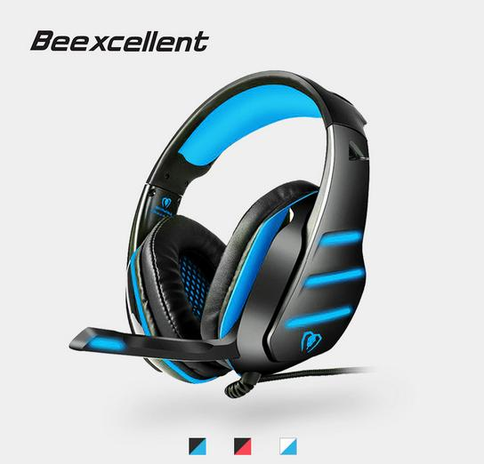 top popular 2019 Beexcellent GM-3 USB Wired Gaming Headset W  LED Light Stereo Bass Headband Headphones Professional 3.5mm Game Headphones For PC 2019