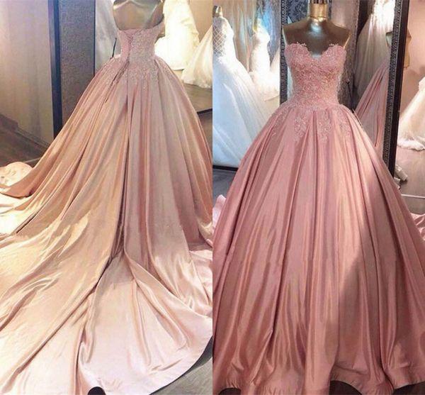 Розовый Quinceanera платья аппликации оборками пышные бальное платье вечернее платье театрализованное платья милая младший Vestidos де 15 Анос