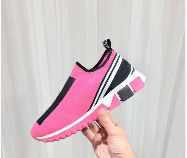 Высококачественные скоростные тренажеры Повседневная обувь Мужская и женская носки Сапоги из эластичного трикотажа Повседневные ботинки Race Runner Sneaker 35-46