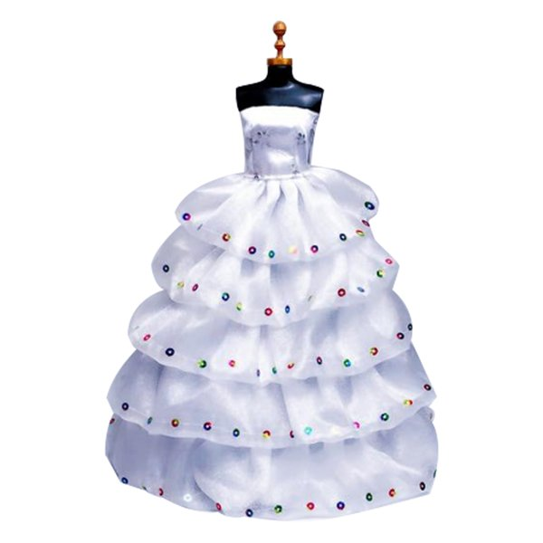 Handmade Fashion Wedding Party Gown Dresses Doll Clothes For Doll Xmas Gift Evening Dress Accessories Toys Clothes (No Br