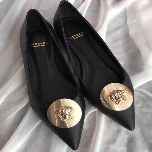 Nueva moda coreana salvaje tacones altos antideslizantes puntiagudos zapatos solos zapatos de tacón alto de lujo de cuero cómodo de tendencia Tamaño 34-42 número: 31-64564