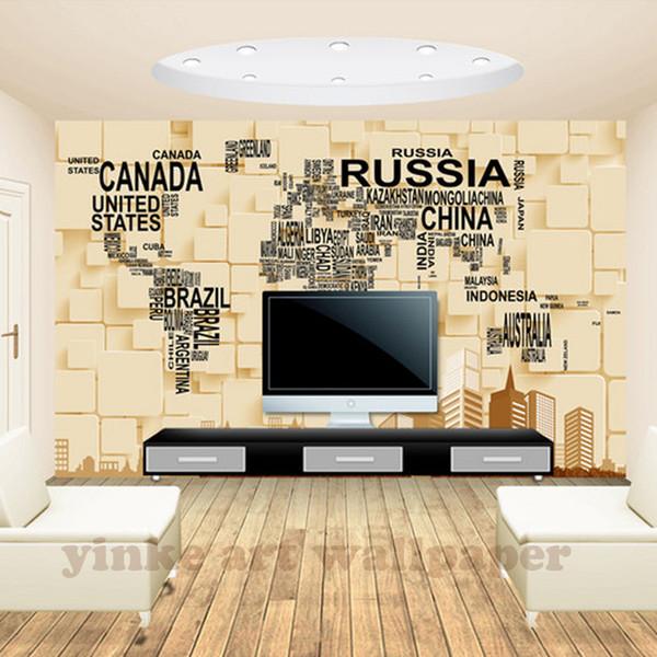 3D Wallpaper For Walls Custom Wall Mural Non Woven Wall Paper 3d World Map  Wallpaper Living Room Sofa Backdrop Home Decor Wallpaper With Images ...