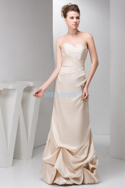 frete grátis 2016 novo plissado projeto querida noivas vestido de empregada doméstica kim vendedor quente Custommade tamanho / cor champanhe da dama de honra