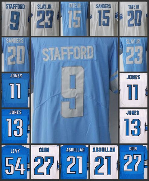 huge selection of 73706 f684c 2018 Men Detroit Lions Women Jerseys #9 Matthew Stafford 15 Golden Tate 20  Barry Sanders 21 Ameer Abdullah Youth Limited Embroidery Jersey From ...