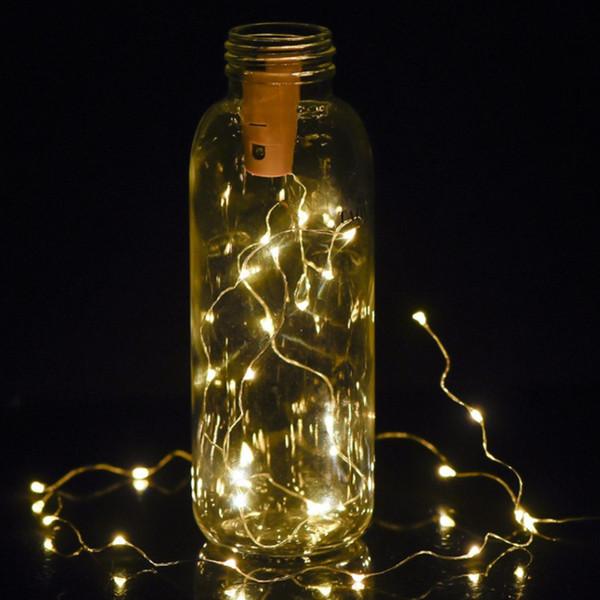 1000pcs Bottle Lights Cork Shape Mini String Lights Wine Bottle Fairy Strip Battery Operated Starry lights For DIY Christmas Party Decoratio