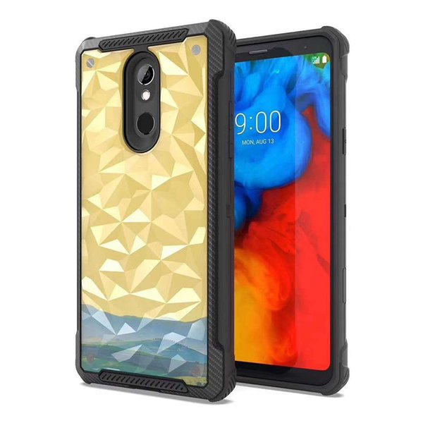 New Style For Iphone XS XS MAX XR 8 8plus PC TPU 3D Diamond pattern Cell Phone Case Cover Low Price