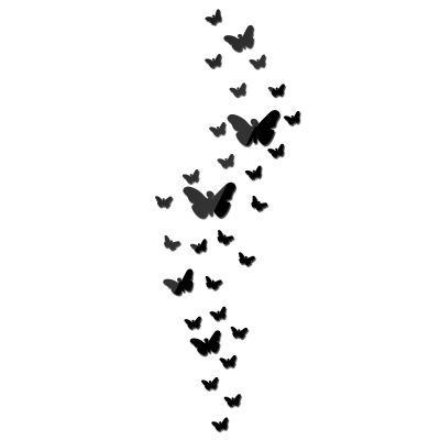 mais de 30 borboleta adesivos de parede espelho para casa de decoração de parede direta DIY fábrica quarto varanda adesivos