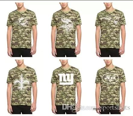 new arrivals 82365 8fab3 2019 2018 Men Vikings Minnesota Miami Dolphins Patriots New Orleans Saints  New York Giants Jets Cleveland Browns 47 Camo Alpha T Shirt From Aizaiaini,  ...